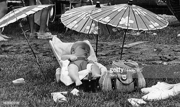 JUL 18 1970 AUG 9 1970 Sleep On Little Babe This baby had it made in the shade while others were picnicking in England Pork W 72nd Ave and Osceola St...
