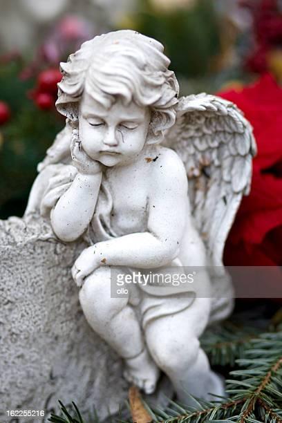 Sleeping angel on a grave