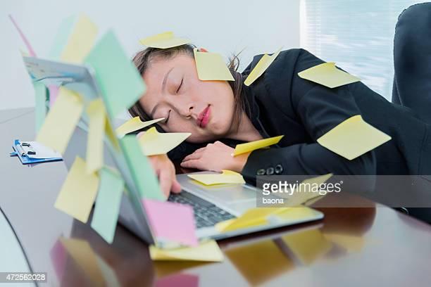 sleeping at laptop