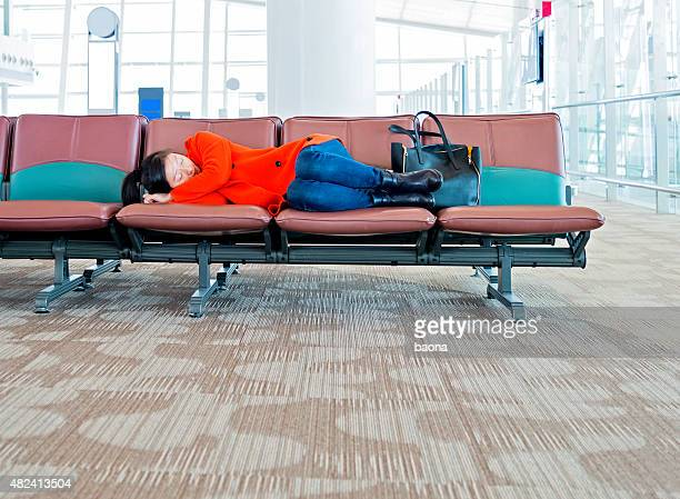 Sleeping at the airport