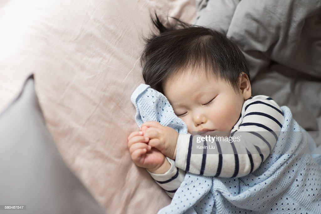 Sleeping baby boy : Stock Photo
