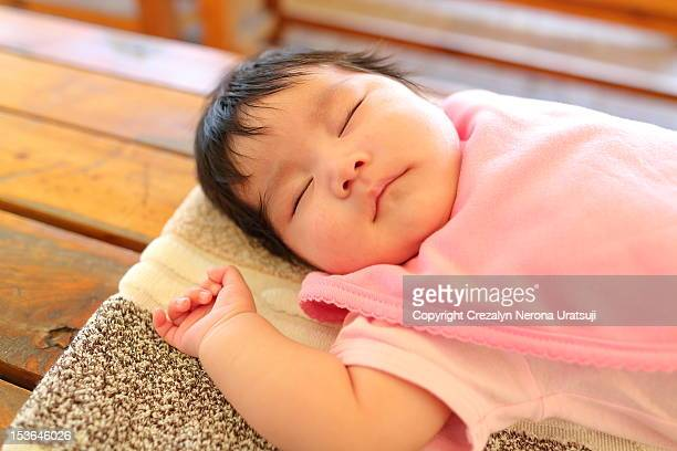 sleeping baby - maebashi city stock photos and pictures