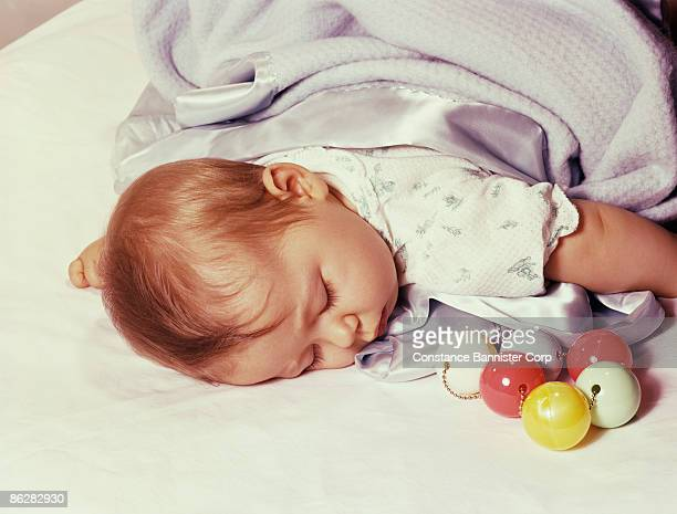 sleeping baby - constance bannister stock photos and pictures