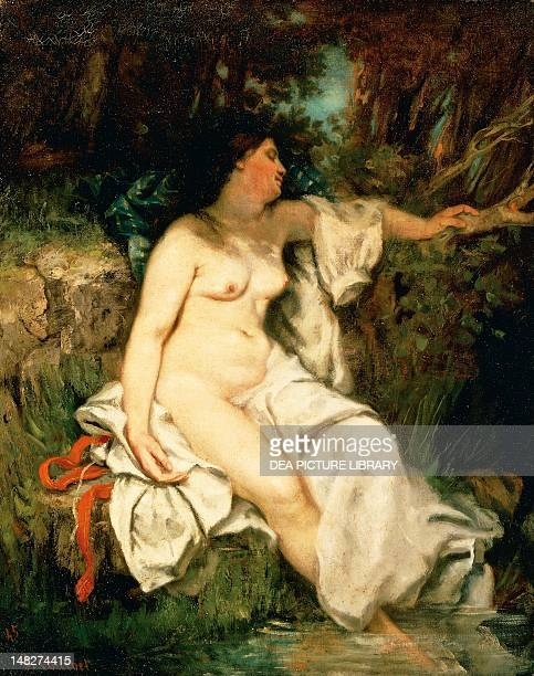 Sleeping bather by Gustave Courbet Detroit Detroit Institute Of Arts