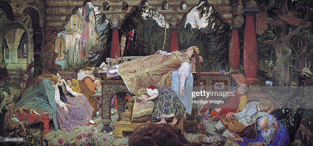 'Sleeping Beauty', 1900-1926. Artist: Viktor Mihajlovic Vasnecov : News Photo