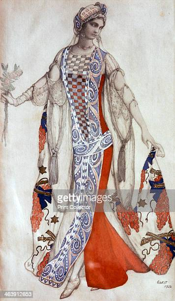 'Sleeping Beauty' ballet costume design c1913 Published in L'Art Decoratif de Leon Bakst From a private collection