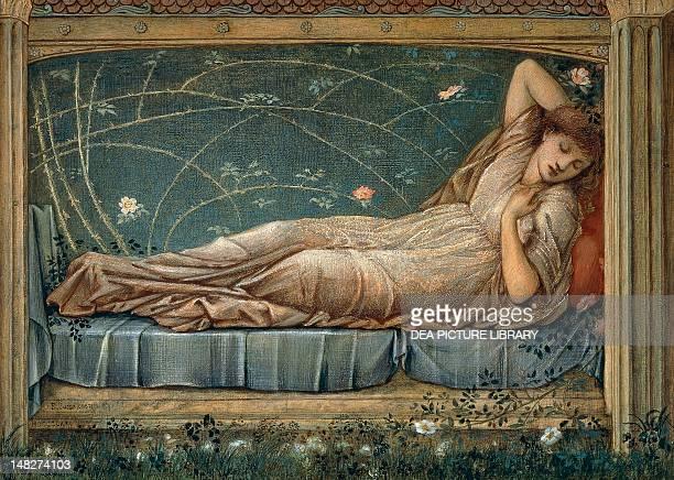 Sleeping Beauty by Edward BurneJones Detail Manchester Manchester Art Gallery