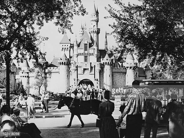 Sleeping Beauty Castle At Fantasyland In Disneyland Park-California