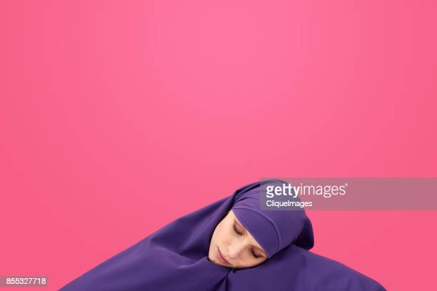 sleeping beauty in hijab - cliqueimages stock pictures, royalty-free photos & images