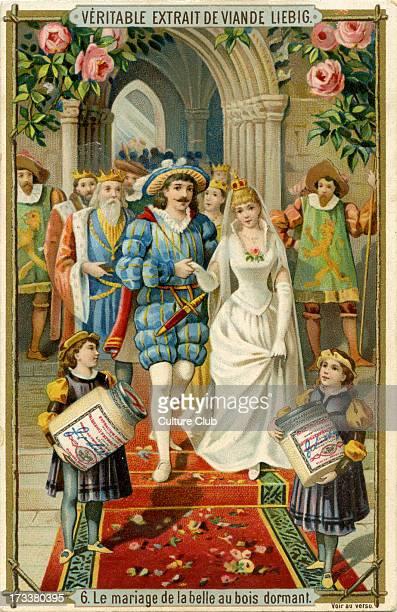 Sleeping Beauty Published 1892 Translation 'Sleeping Beauty's wedding' Liebig Company collectible cards series