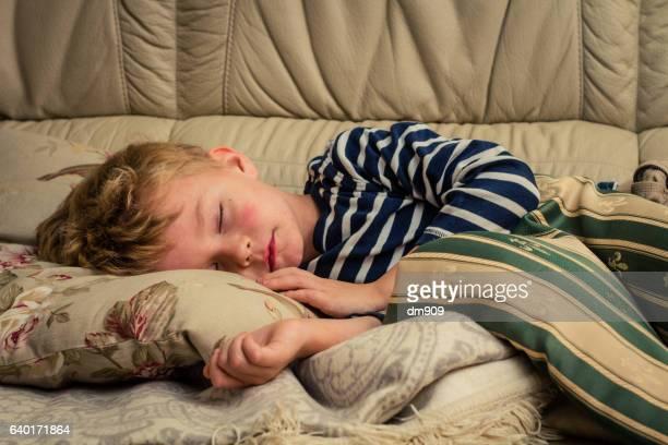 sleeping boy - ピンクの頬 ストックフォトと画像