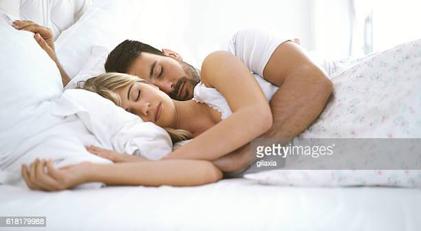 Sleeping couple.