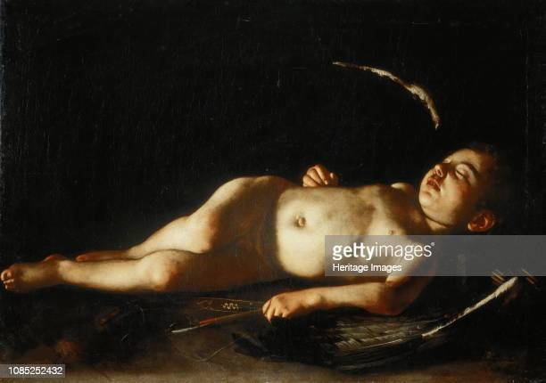 Sleeping Cupid, 1608. Found in the Collection of Palazzo Pitti, Florence.