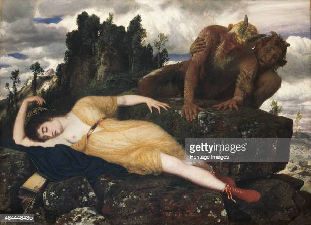 Sleeping Diana Watched by Two Fauns 1877 Found in the collection of the Kunstsammlung NordrheinWestfalen Dusseldorf