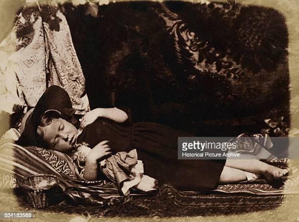 Sleeping Girl by David Octavius Hill and Robert Adamson