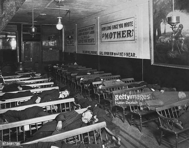 A Sleeping Hall Inside A New York 'Mission'