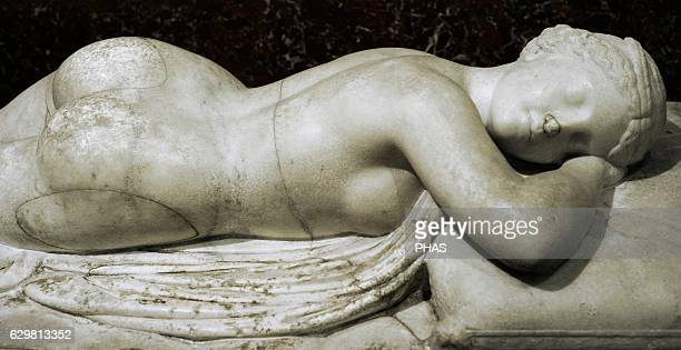 Sleeping Hermaphroditus Roman work after the Greek original of the 3rd 2nd century BC Marble Hadrian's Villa Italy The State Hermitage Museum Saint...