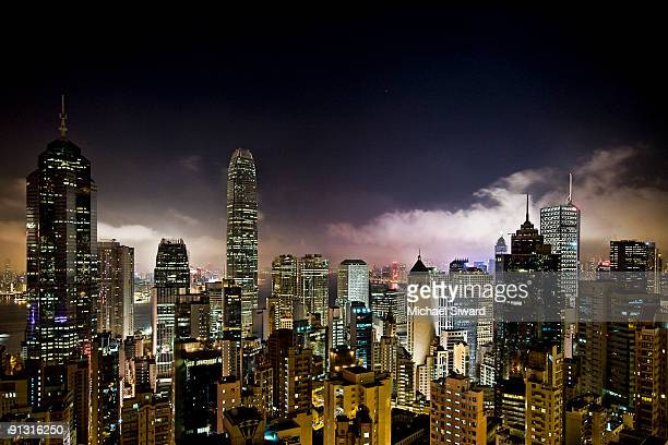 sleeping hong kong - michael siward stock pictures, royalty-free photos & images