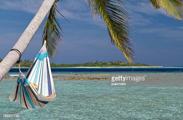 Sleeping in a hammock by the sea