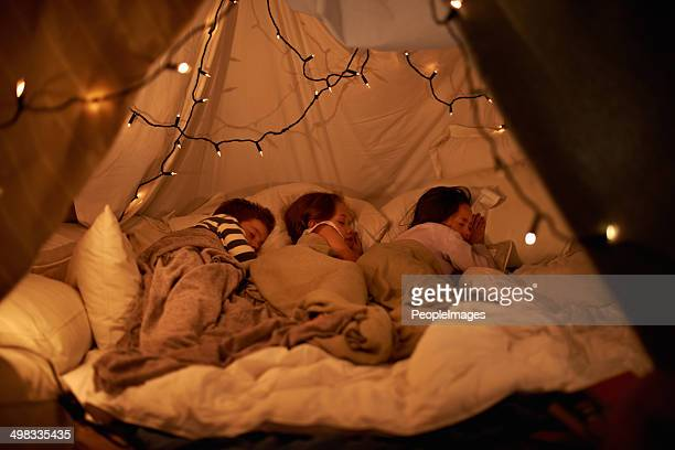 sleeping in our imaginary tent - fortress stock pictures, royalty-free photos & images