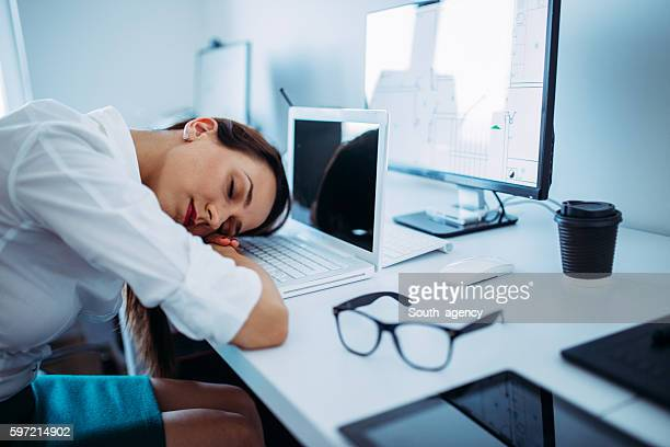 Sleeping in the office
