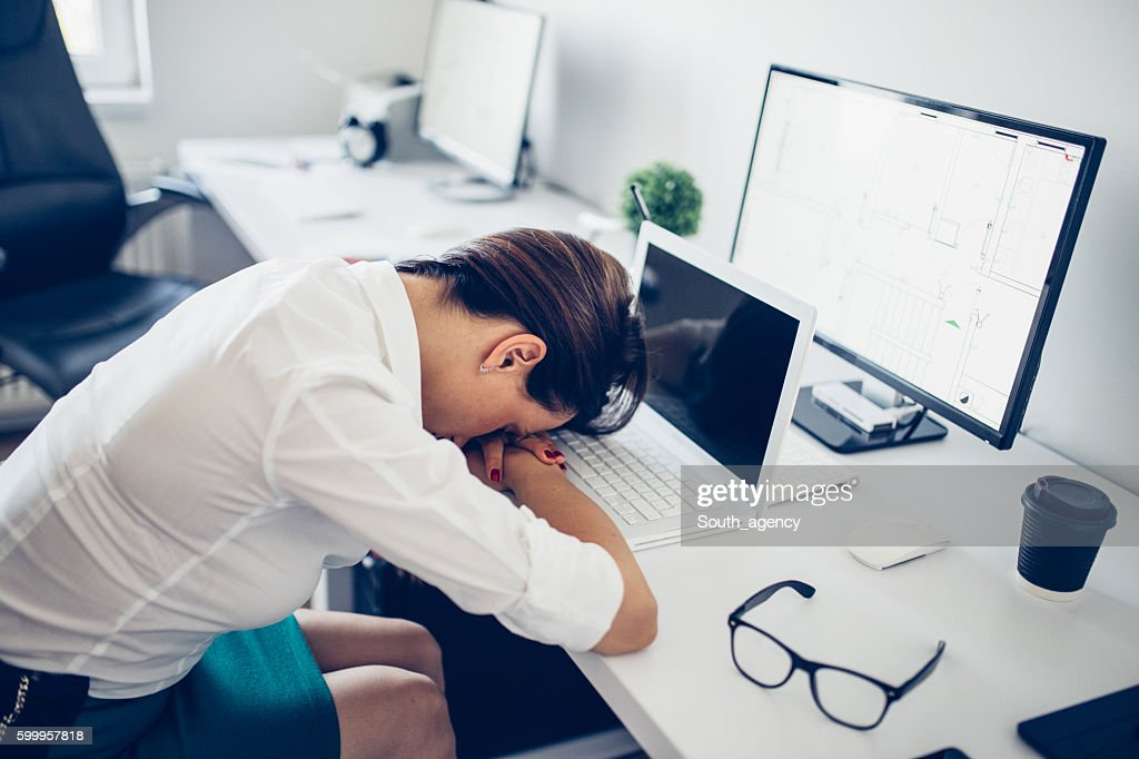 Sleeping in the office : Stock Photo