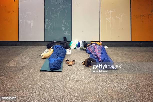 Sleeping in the street