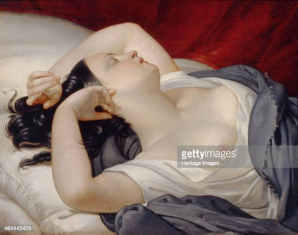 Sleeping Italian Woman 1840s Found in the collection of the Regional Art Museum Nizhny Tagil