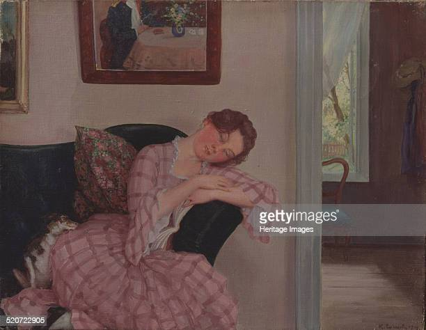 A sleeping Lady in Pink Found in the collection of State Art Museum Nizhny Novgorod