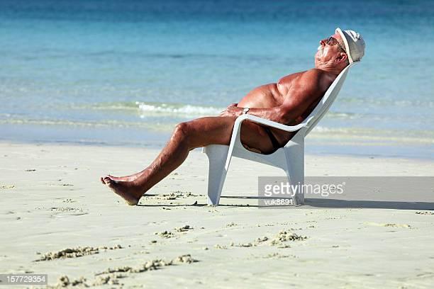 Sleeping on the beach
