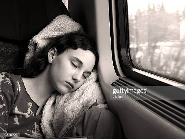 Sleeping on the train....