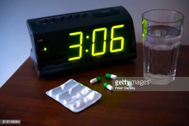 Sleeping pills in bedroom