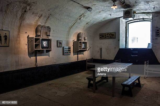 Sleeping quarters in the Fort de Loncin one of twelve forts built as part of the Fortifications of Liege destroyed during World War I in the Battle...