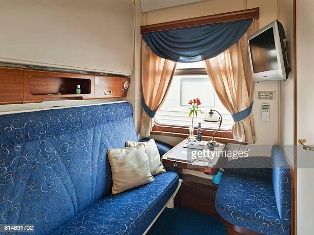 Sleeping railway car on the trans siberian express