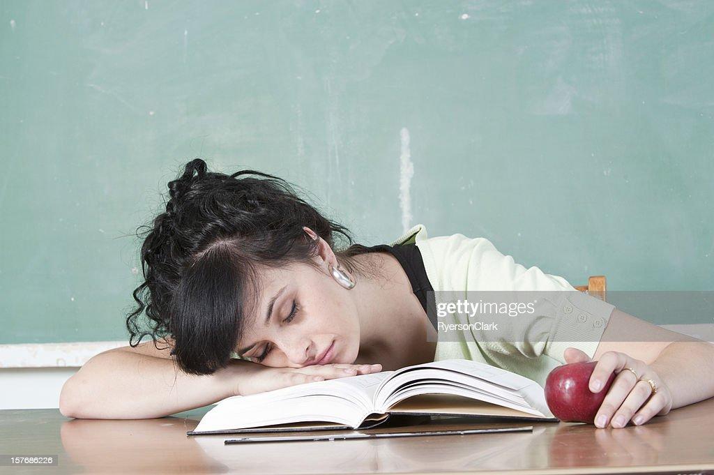 Sleeping School Teacher : Stock Photo