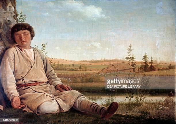 Sleeping shepherd by Aleksey Venetsianov San Pietroburgo Gosudarstvennyj Russkij Muzej