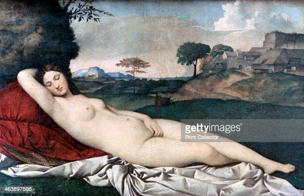 'Sleeping Venus' c1510 Found in the collection of the Gemäldegalerie Dresden