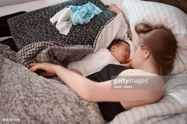 schlafen mit meinem Babymädchen