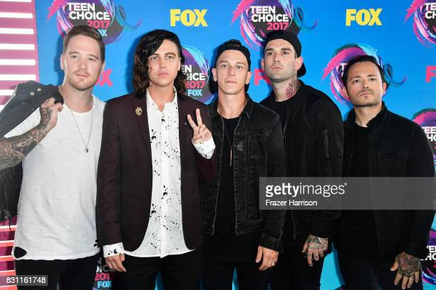 Sleeping With Sirens attends the Teen Choice Awards 2017 at Galen Center on August 13 2017 in Los Angeles California