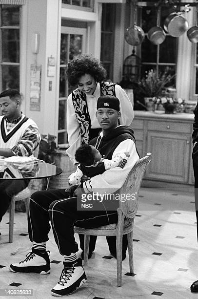 AIR THE 'Sleepless in BelAir' Episode 14 Pictured Alfonso Ribeiro as Carlton Banks Daphne Reid as Vivian Banks Ross Bagley as Nicky Banks Will Smith...