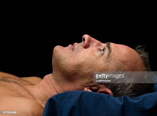 Sleepless mature man