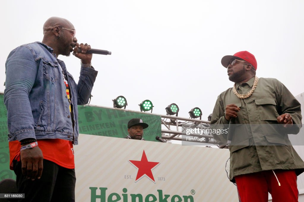 Sleepy Brown and Big Boi perform outside The House by Heineken tent during the 2017 Outside & The Heineken House Stock Photos and Pictures | Getty Images