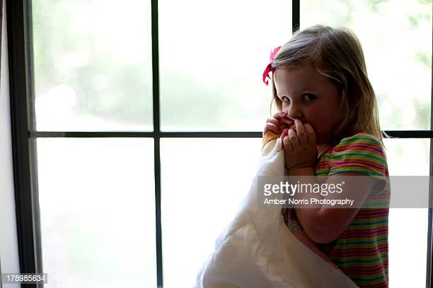 sleepy little girl - shy stock pictures, royalty-free photos & images