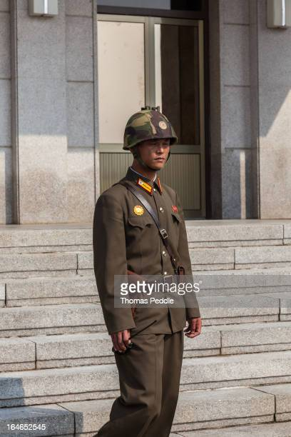 CONTENT] A sleepy North Korean soldier at the Joint Security Area on guard duty The Joint Security Area was where the original Armistice treaty was...