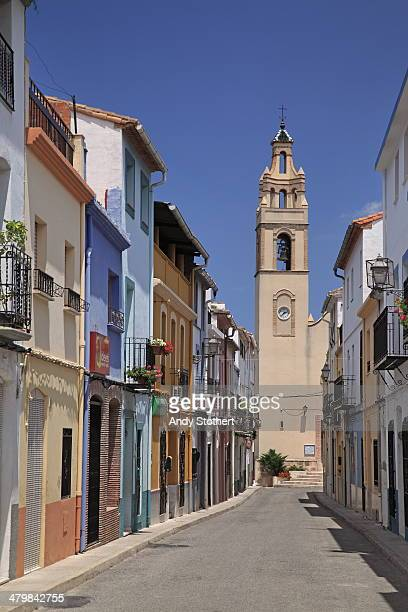 sleepy spanish village - denia stock pictures, royalty-free photos & images