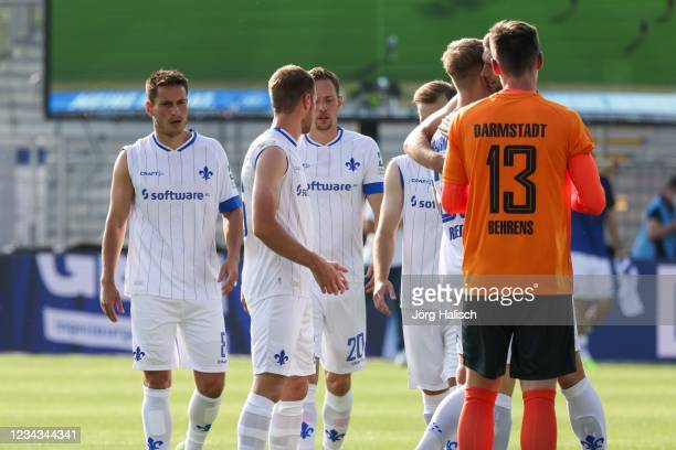 Sleeve up action in the 2nd Bundesliga during the Second Bundesliga match between Karlsruher SC and SV Darmstadt 98 at BBBank Wildpark on July 30,...