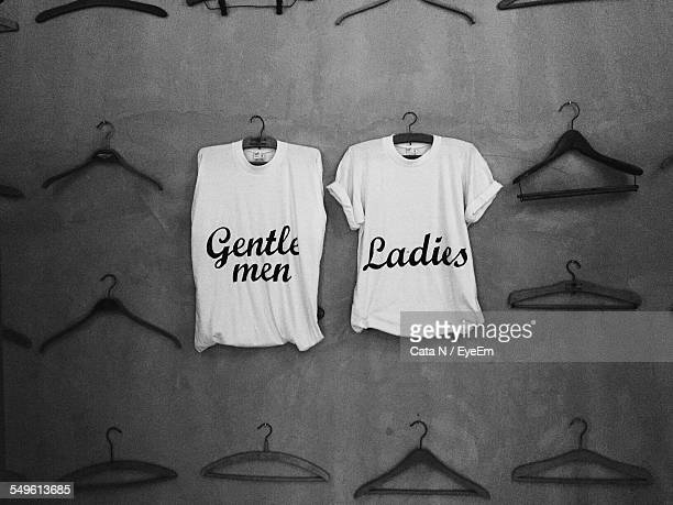 Sleeveless Short And T-Shirt With Gentlemen And Ladies Inscription Respectively