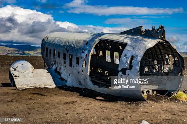 sólheimasandur plane - acidente de avião imagens e fotografias de stock