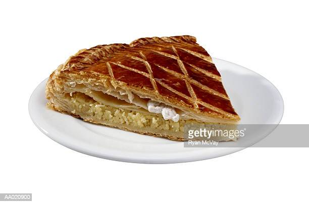 Slice of an Epiphany Cake on a Plate