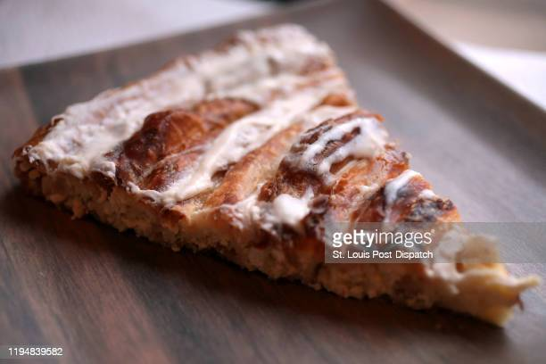 A slice of Balkan cheese pie made by Loryn Nalic coowner of Balkan Treat Box on December 9 2019 Nalic made the Bosnian version of the dish called...